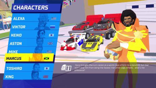 hotshot racing characters