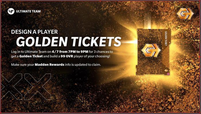 Madden 21 Ultimate Team MUT Golden Ticket