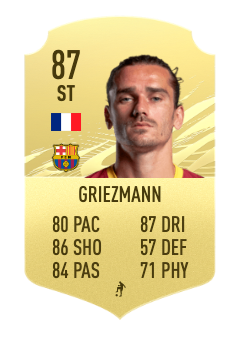 fifa 22 griezmann prediction 87