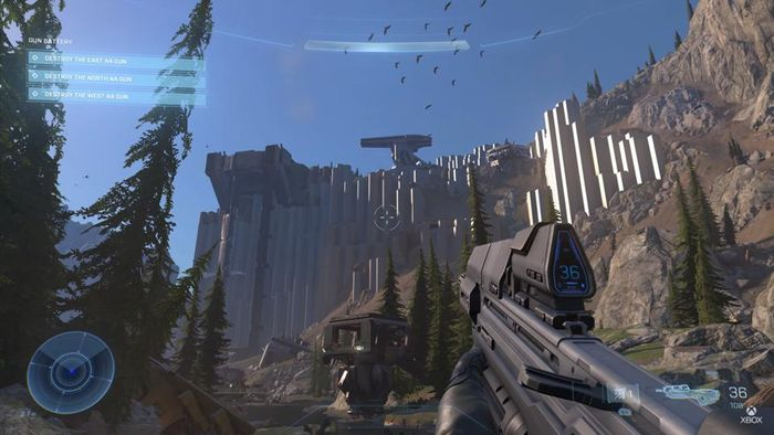 A first look at vanilla Halo Infinite multiplayer.