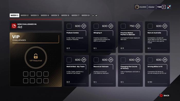 F1 2020 VIP Challenges