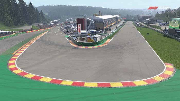 F1 2020 Belgian GP Spa Turn 1 La Source