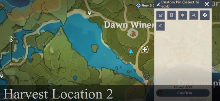 genshin impact radish location dawn winery 3