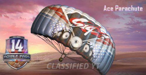 pubg ace parachute