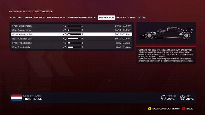 F1 2020 Dutch Suspension