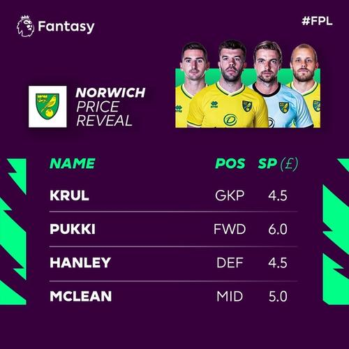 norwich fpl price reveal