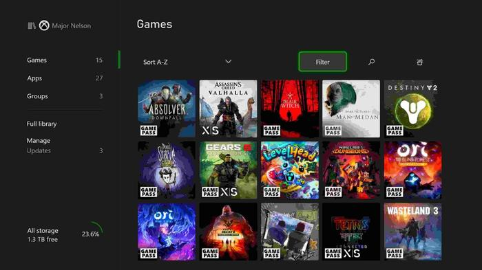 xbox series x dashboard reveal