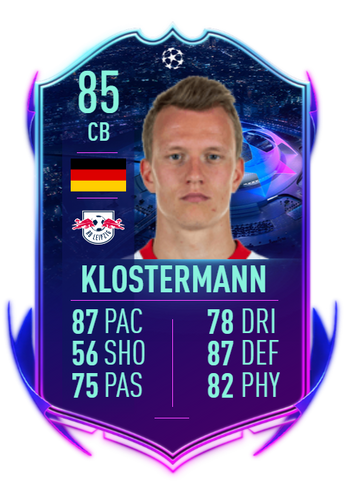 lukas klostermann road to the final ucl live fifa 21 ultimate team