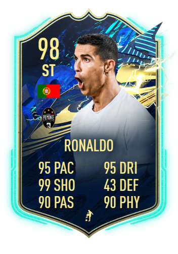 NEVER IN DOUBT - With 29 goals in Serie A last season, CR7 was always going to claim another TOTS item