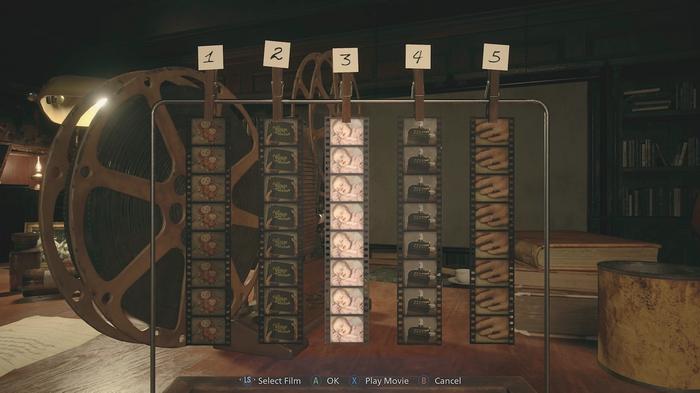 Resident Evil Village Film Puzzle Solution