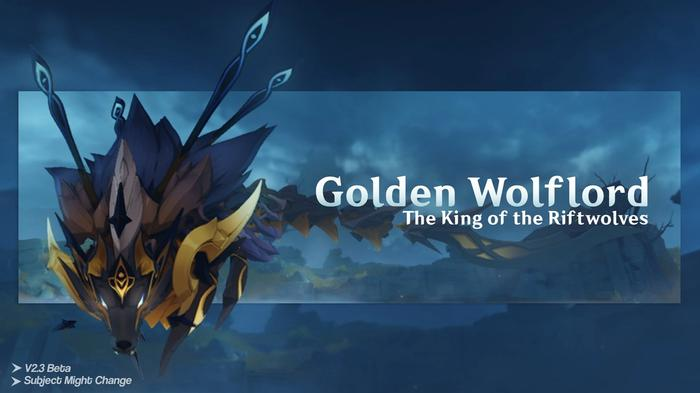 Image of the new boss Wolflord in Genshin Impact