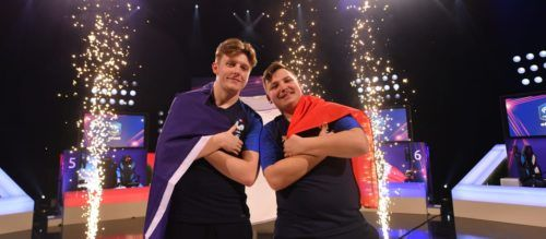 """ARTISTS: French duo Lucas """"DaXe"""" Cuillerier and Corentin """"Maestro"""" Thuillier took home the inaugural FIFA eNations Cup"""