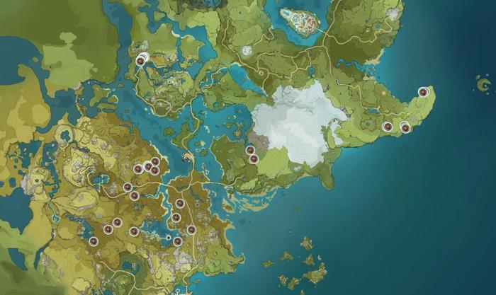 Genshin Impact Pinecone Map Locations