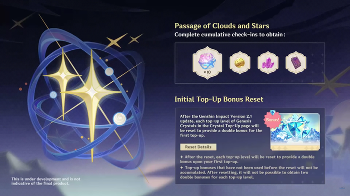 Clouds and Stars event event on Genshin Impact