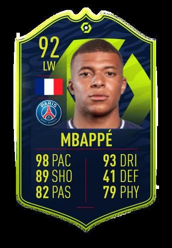 FIFA 21 FUT 21 Ultimate Team Kylian Mbappe POTM Card