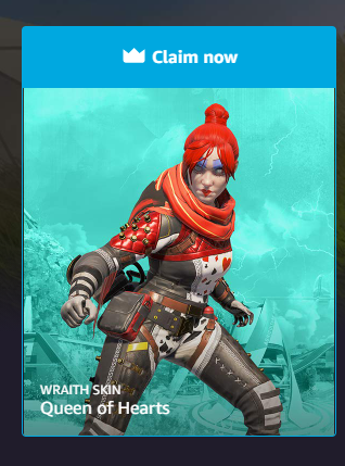 Apex Legends Wraith Skin Queen Of Hearts Prime Gaming