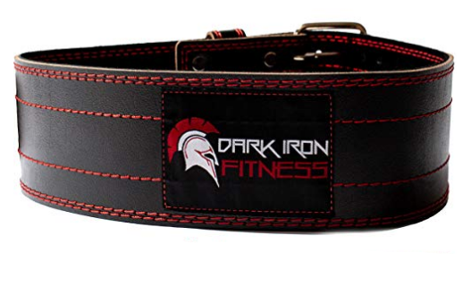 Best Weightlifting Belt Dark Iron Fitness product image of red and black belt