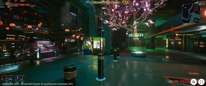 Cyberpunk 2077 Hidden RTX Cinematic Comparison 2
