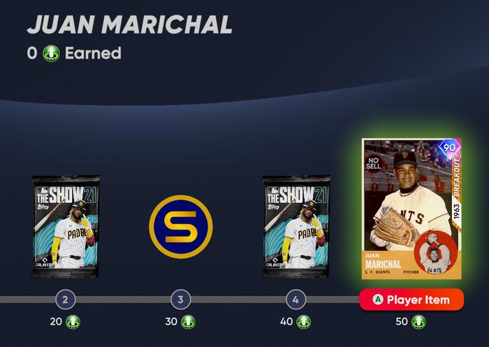 MLB The Show 21 Juan Marichal 3rd Inning Player Program Diamond Dynasty how to Unlock