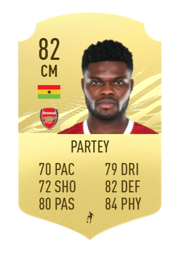 Partey FIFA 22 Prediction