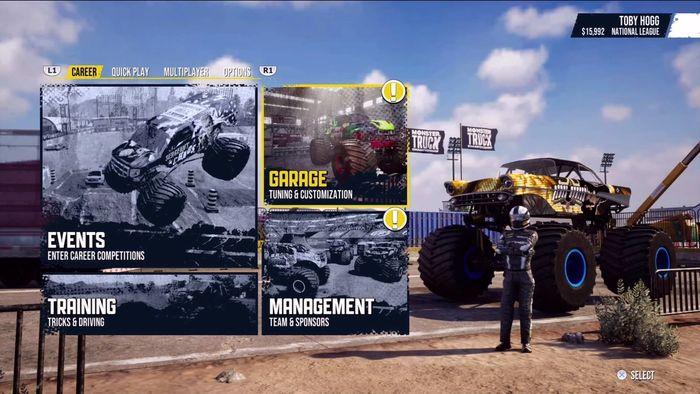 Monster Truck Sim Main Menu min1