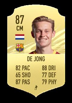 fifa 22 de jong 87 prediction
