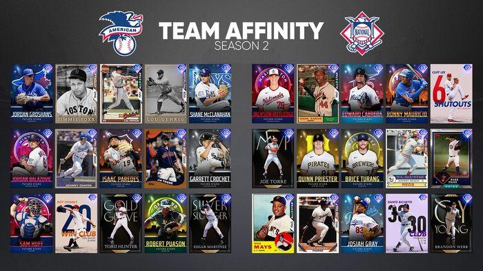 MLB The Show 21 Team Affinity Season 2 Future Stars Legends Rewards Diamond Dynasty