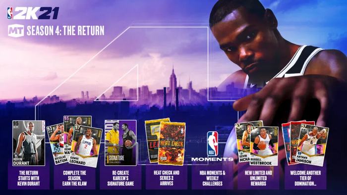 NBA 2K21 MyTEAM Season 4 Limited Rewards Packs Rings