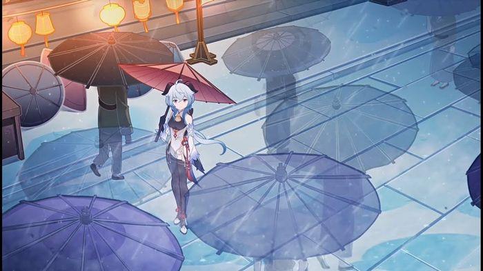 Ganyu with Umbrella