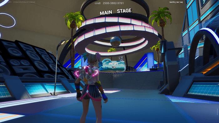 fortnite O2 main stage