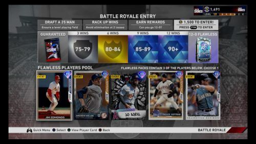 Battle Royale entry in MLB The Show 20