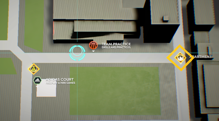 NBA 2K22 The City Map Locations The courts