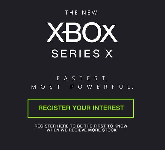 Xbox Series X Register Interest Box