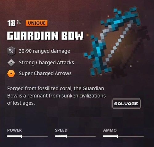 minecraft dungeons guardian bow small