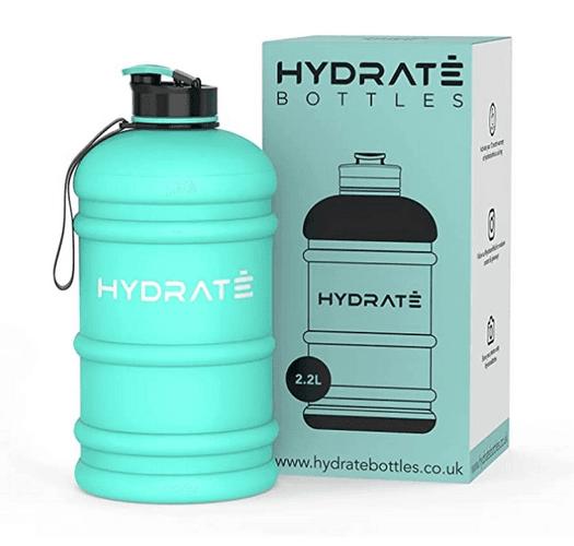 Best Water Bottle HYDRATE product image of a mint green 2.2l bottle
