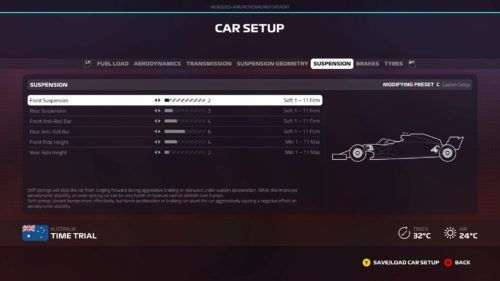 f1 2019 australian gp setup suspension
