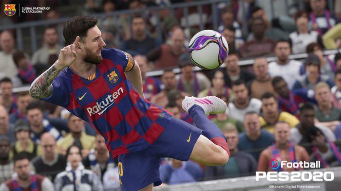 PES 2020 snapshot of Leo Messi