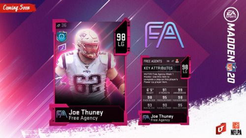 MUT free agency Joe Thuney Madden Ultimate Team