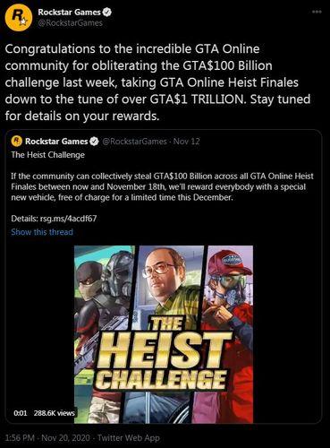 GTA Online The Heist Challenge completed