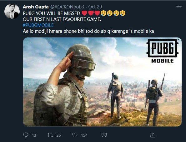 pubg mobile ban tweet