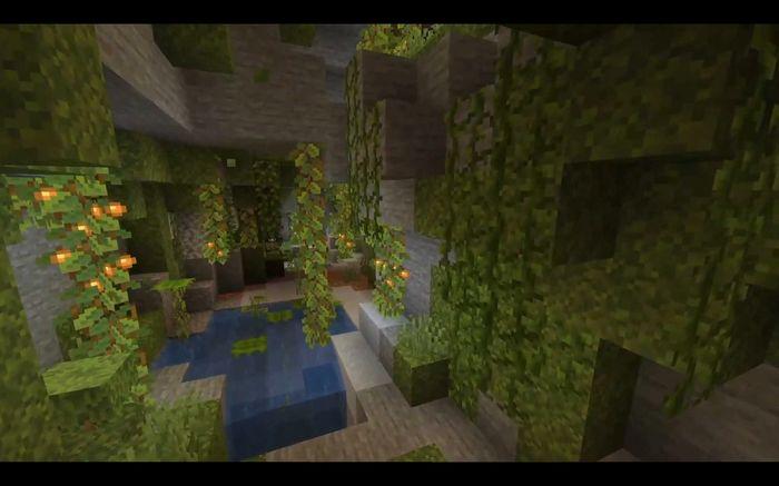 lush cave biome minecraft 1