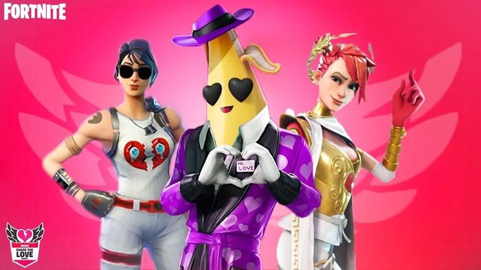 Fortnite Valentines Day Peely Share The Love Skins