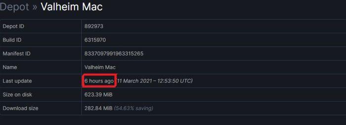 Valheim Mac Steam Database update
