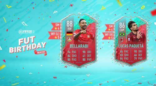 fut birthday bellarabi paqueta objectives fifa 20