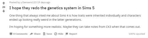 sims 5 genetics 1