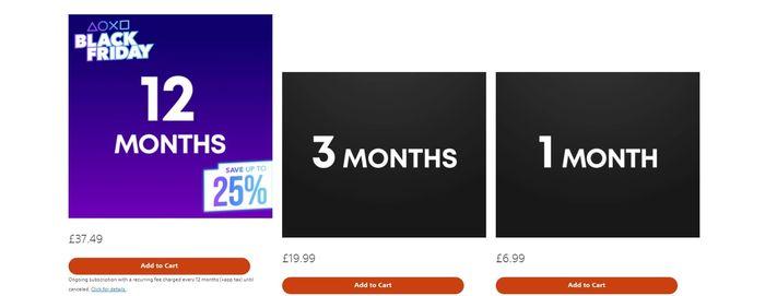 PS Plus Price UK