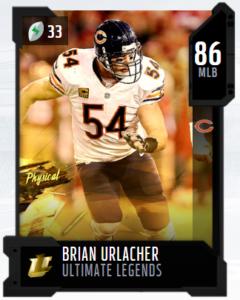 Brian Urlacher Utlimate Legends mut 86 ovr