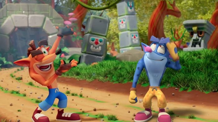 Crash Bandicoot On The Run Blue Crash