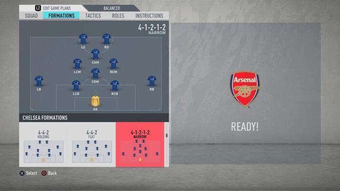FIFA Formation - The 4-1-2-1-2 narrow