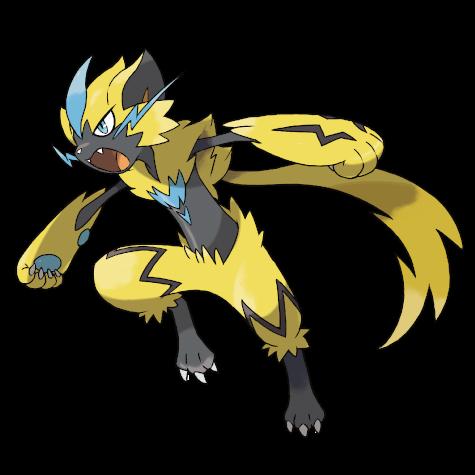 Pokemon character Zeraora